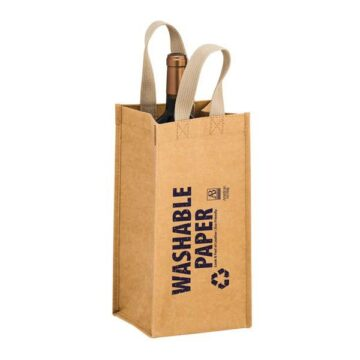 TORNADO - WASHABLE KRAFT PAPER WINE TOTE BAG