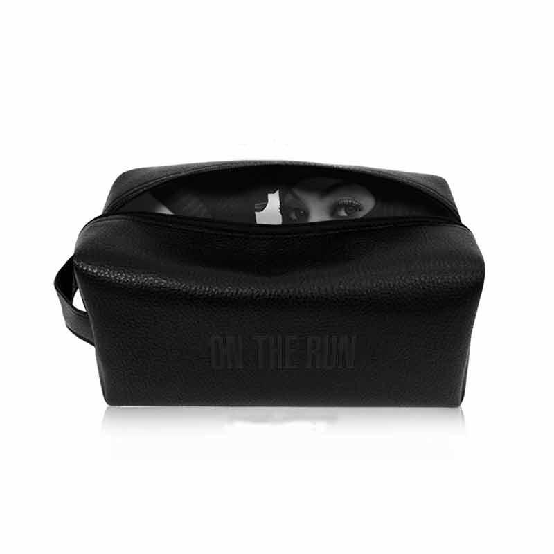 on-the-run-black-leather-dopp-kit-sublimated-lining-debossed-logo