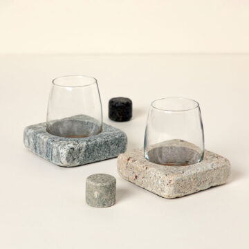 Wine Chilling Coasters with Glasses - Set of 2