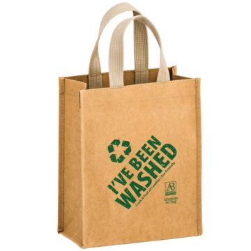 CYCLONE - WASHABLE KRAFT PAPER TOTE BAG WITH WEB HANDLE
