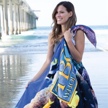 OVERSIZE FIBER REACTIVE VELOUR BEACH TOWEL